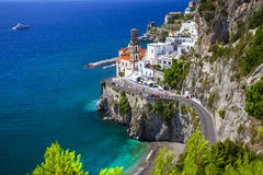 Beautiful Amalfi coast of Italy  - view of Atrani Stock Photos