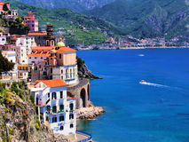 Beautiful Amalfi Coast. Beautiful village of Atrani along the Amalfi Coast, Italy Stock Photo