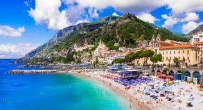 Scenic Amafi coast. Italian summer holidays,campania,Italy. Royalty Free Stock Photography