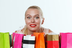 Beautiful amazed blonde woman Royalty Free Stock Photo