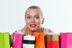 Beautiful amazed blonde woman Royalty Free Stock Photo