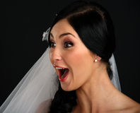 Beautiful amazed bride Royalty Free Stock Photo