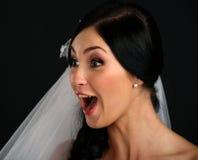 Beautiful amazed bride