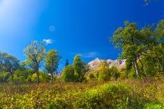 Mountain day autumn stock images