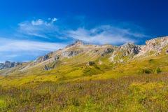 Mountain day autumn stock image