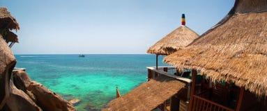 Beautiful amazing nature. Tropical blue sun sea. Luxury holiday resort. Summer vacation holiday concept. Koh Tao, Thailand royalty free stock photos