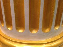 Beautiful and amazing wall. Beautiful and amazing gold wall in a hotel Royalty Free Stock Photo