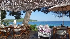 Beautiful Ambelakia beach on Skiathos island in Greece, summer day Royalty Free Stock Image