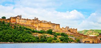 Beautiful Amber Fort, Jaipur, Rajasthan, India. Stock Images