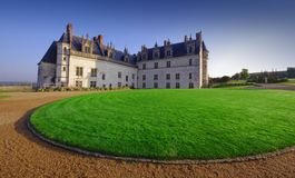 Beautiful Amboise castle. In France stock images