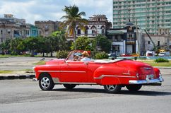 Beautiful American car in Havana, Cuba Stock Photography