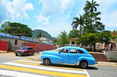 Beautiful american cars in Cuba Stock Photo