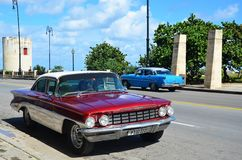 Beautiful American cars in Havana, Cuba Stock Image