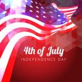Beautiful american flag Stock Images