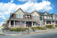 Beautiful american houses Royalty Free Stock Photo