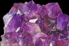 Beautiful Amethyst Crystals Stock Photo