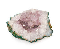 Beautiful amethyst druse close-up Royalty Free Stock Image