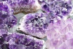 Beautiful Amethyst Gemstones Close Up