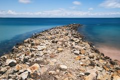 Amity Point beach on Stradbroke Island, Queensland. Beautiful Amity Point beach on Stradbroke Island, Queensland Royalty Free Stock Photography