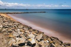 Amity Point beach on Stradbroke Island, Queensland. Beautiful Amity Point beach on Stradbroke Island, Queensland Stock Photo