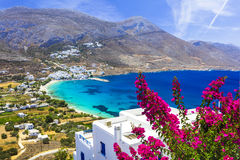 Beautiful Amorgos island,Aegialis bay, Cyclades. Stock Photography