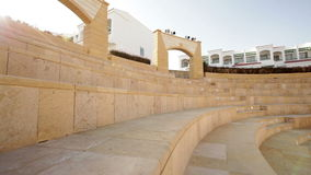 Beautiful amphitheater on the territory of the hotel stock video footage