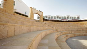 Beautiful amphitheater on the territory of the hotel stock video