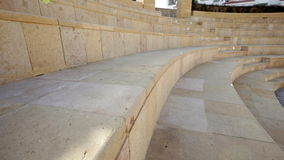 Beautiful amphitheater on the territory of the hotel stock footage