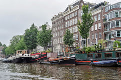 The beautiful Amsterdam in june. Royalty Free Stock Photos