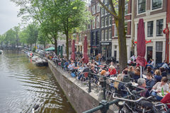 The beautiful Amsterdam in june. Stock Photos