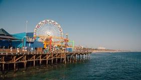 Beautiful amusement park at the Santa Monica pier stock images
