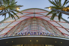 The beautiful Anaheim Regional Intermodal Transit Center. Anaheim, JUL 16: The beautiful Anaheim Regional Intermodal Transit Center on JUL 16, 2016 at Anaheim royalty free stock image