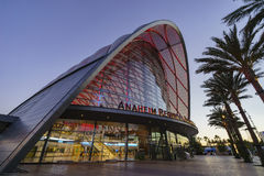 The beautiful Anaheim Regional Intermodal Transit Center. Anaheim, JUL 16: The beautiful Anaheim Regional Intermodal Transit Center on JUL 16, 2016 at Anaheim royalty free stock photography