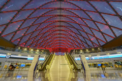 The beautiful Anaheim Regional Intermodal Transit Center Stock Photography