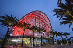 The beautiful Anaheim Regional Intermodal Transit Center Royalty Free Stock Photography