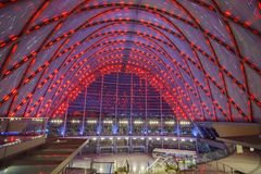 The beautiful Anaheim Regional Intermodal Transit Center Royalty Free Stock Image