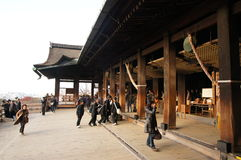 Beautiful ancient buddhist temple. Kiyomizu-dera temple in Kyoto Japan Stock Image
