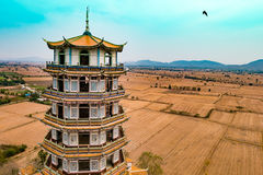 Beautiful,ancient chinese architecture temple,have landscape Royalty Free Stock Photos