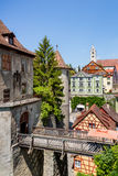 Beautiful ancient city Meersburg at lake Bodensee Royalty Free Stock Photography
