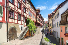 Beautiful ancient city Meersburg at lake Bodensee Royalty Free Stock Image