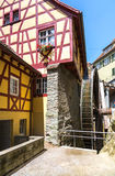Beautiful ancient city Meersburg at lake Bodensee Stock Photo