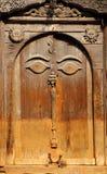 Beautiful ancient door inside the Nasal Chowk Courtyard of Hanuman Dhoka Durbar Royalty Free Stock Image