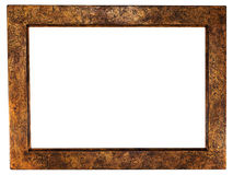Beautiful ancient frame for a picture. Isolated white Royalty Free Stock Image