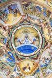 Beautiful ancient fresco on the wall  at Rila Monastery church-Bulgaria Royalty Free Stock Photography