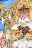 Beautiful ancient fresco on the wall  at Rila Monastery church-Bulgaria Stock Photography