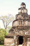 Beautiful ancient hinduist temple. Beautiful high rock piramide ruines of ancient hinduist temple Stock Photos