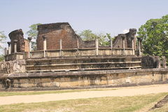 Beautiful ancient hinduist temple. Ruines of Beautiful  ancient old exotic  hinduist temple on sunny day in Sri Lanka Royalty Free Stock Photography