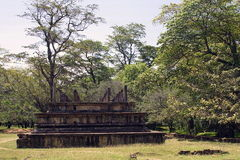 Beautiful ancient hinduist temple. Ruines of Beautiful  ancient old exotic  hinduist temple on sunny day in Sri Lanka Royalty Free Stock Image
