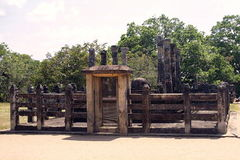 Beautiful ancient hinduist temple. Ruines of Beautiful  ancient old exotic  hinduist temple on sunny day in Sri Lanka Stock Photography