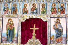 Beautiful ancient icons .Altar in church Stock Photography